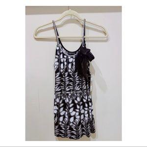 New black & white floral spaghetti strap top.